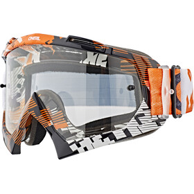 O'Neal B-10 Lunettes de protection, pixe orange/white-clear